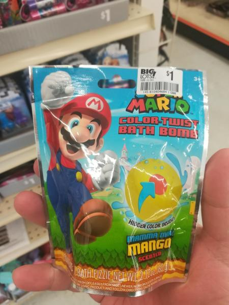 Super Mario Bath Fizzie package